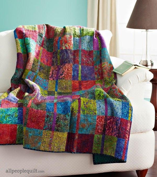 Cool free batik quilt patterns allpeoplequilt 10 Cozy Quilt Patterns For Batiks Inspirations
