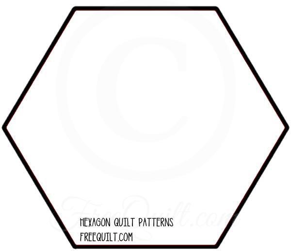 Cool hexagon quilt block printable hexagon quilt template 9 Unique Hexagon Quilt Pattern Template