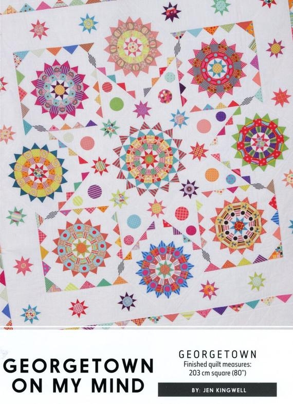Cool jen kingwell designs georgetown on my mind quilt pattern only Cozy Georgetown Circle Quilt Block Designer Inspirations
