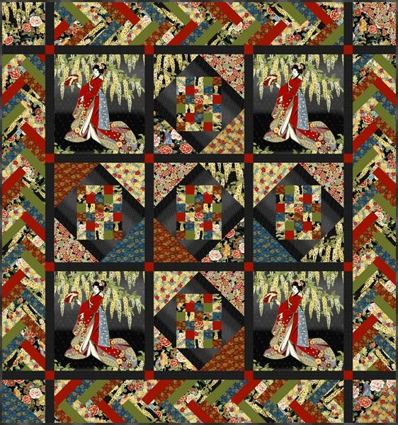 Cool kona bay fabrics has some beautiful patterns for panels such 10 Elegant Beautiful Oriental Fabric Panels For Quilting Ideas