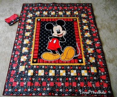 Cool loose threads mickey mouse quilt finish 9 Cool Mickey Mouse Quilt Pattern