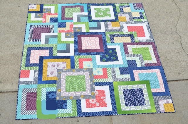 Cool make an incredible square in a square quilt block design 9 Unique Square In A Square Quilt Pattern