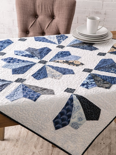 Cool new quilt patterns winter icicles table topper pattern 9 Beautiful Table Topper Quilt Patterns