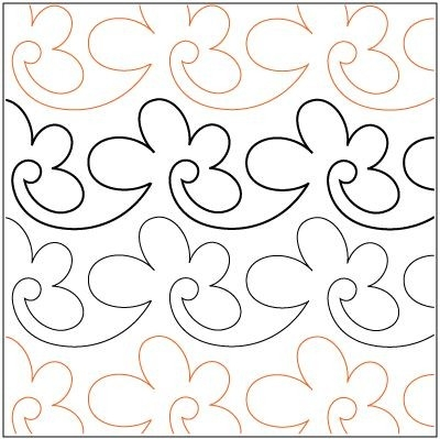 Cool pantograph quilting patterns free download cafca info for 9 Elegant Pantograph Quilting Patterns