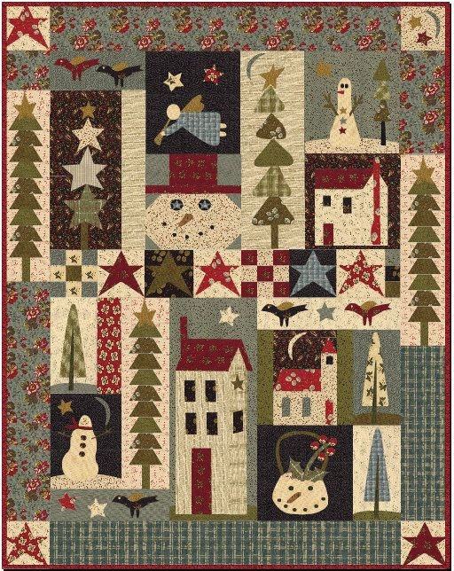 Cool pine tree ridge quilt pattern jan patek picture quilts Cozy Country Primitive Quilt Patterns Inspirations