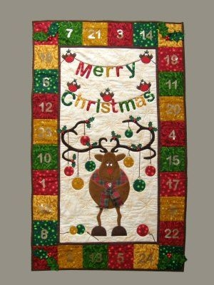 Cool reindeer advent calendar quilt pattern quilted advent 9 Cool Quilted Advent Calendar Pattern Inspirations
