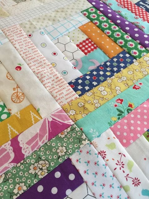 Permalink to 9   Scrappy Log Cabin Quilt Pattern