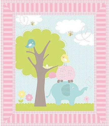 Cool springs creative sweet meadow nursery ba quilt panel 9 Cool Baby Quilt Panel Fabric