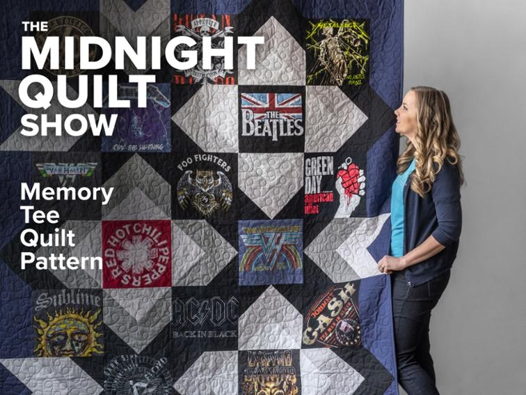 Cool the memory tee quilt pattern midnight quilt show bluprint T Shirt Memory Quilt Pattern Gallery