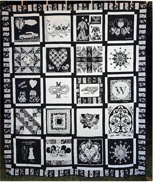 Cool the wedding quilt a secret family project weallsew 11   Wedding Quilt Patterns