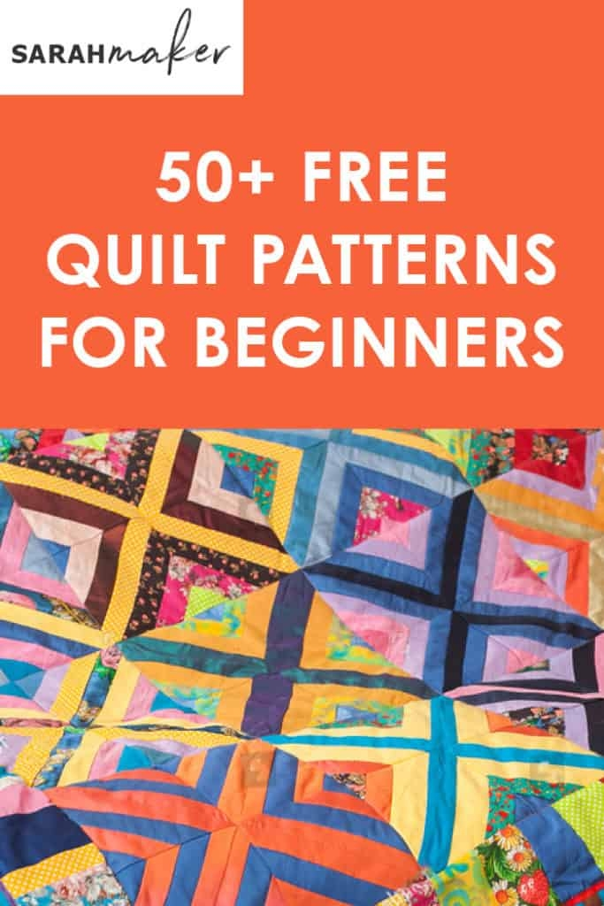 Cozy 50 free easy quilt patterns for beginners sarah maker Beautiful Simple Beginner Quilt Patterns Gallery