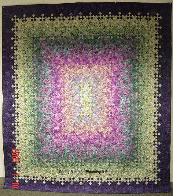 Cozy blooming nine patch patch quilt nine patch quilt 9 patch Cozy Blooming Nine Patch Quilt Pattern Inspirations