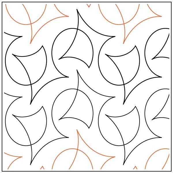 Cozy calder quilting pantograph pattern natalie gorman 9 Elegant Pantograph Quilting Patterns