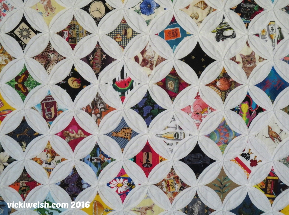 Cozy cathedral window quilt colorways vicki welsh 10 New Pattern For Cathedral Window Quilt