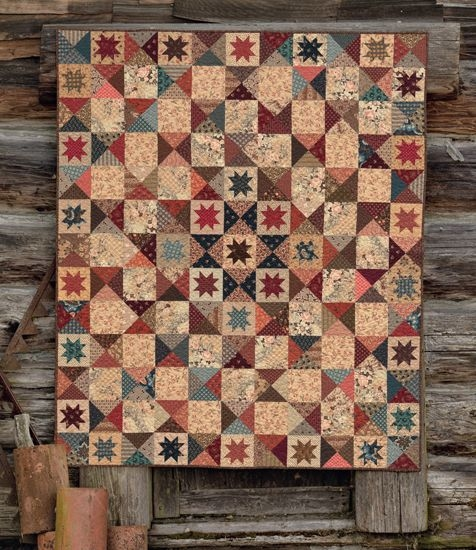 Cozy civil war quilting patterns country threads giveaway Cozy Country Primitive Quilt Patterns Inspirations