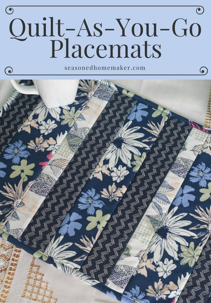 Cozy easy quilt as you go placemats the seasoned homemaker 9 Unique Quilting Placemat Patterns