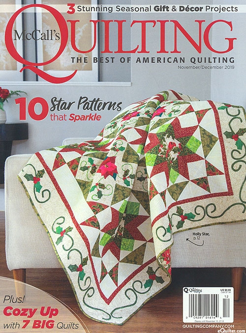Cozy equilter mccalls quilting magazine novemberdecember 2019 Stylish Mccalls Quilting Patterns Inspirations