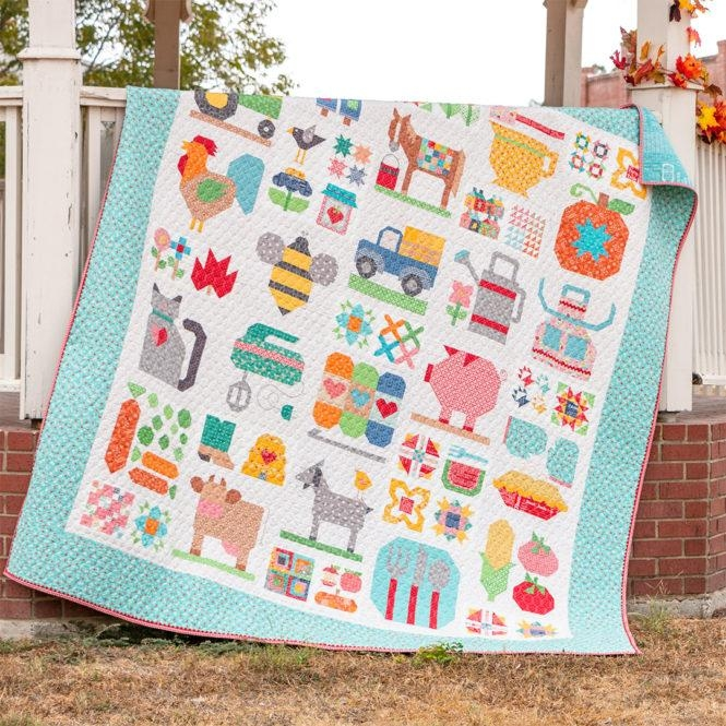 Cozy farm girl vintage 2 sewcial club 11 Interesting Farm Girl Vintage Quilt Kit