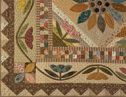Cozy field of flowers patchwork and applique quilt pattern 10 Interesting Flower Patchwork Quilt Patterns