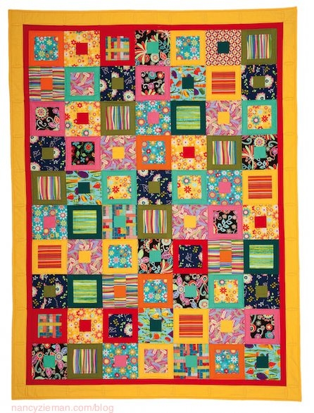 Cozy how to make an easy square within a square quilt block 9 Unique Square In A Square Quilt Pattern
