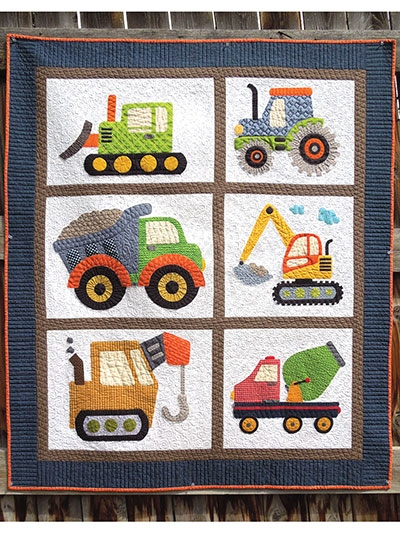 Cozy i love dirt quilt pattern 11 Stylish Easy Applique Quilt Patterns