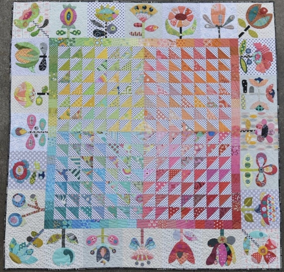 Cozy meadow quilt pattern from jen kingwell design from australia 10 Interesting Quilt Patterns Australia Inspirations
