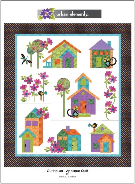 Cozy our house applique quilt pattern 9 Beautiful House Quilt Pattern