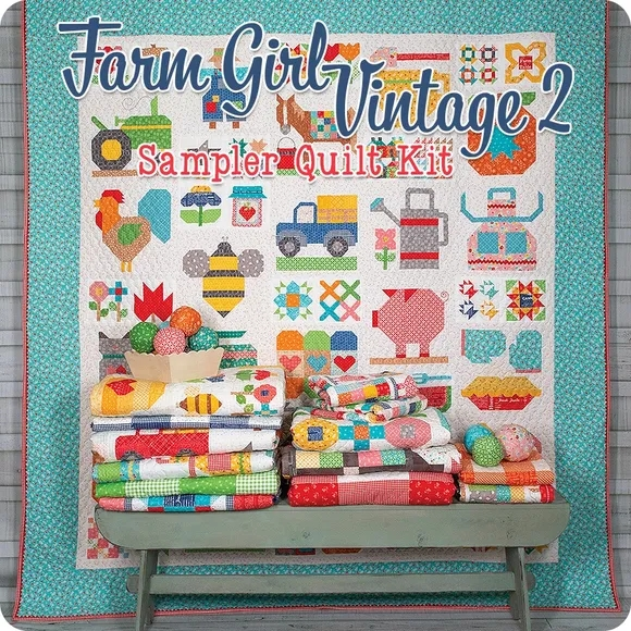 Cozy pin on quilting 11 Interesting Farm Girl Vintage Quilt Kit