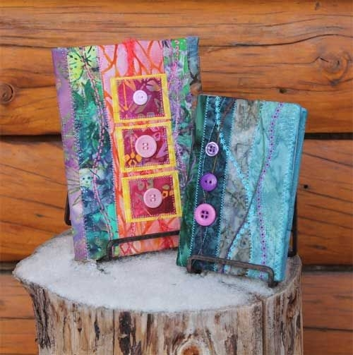 Cozy quilted book covers free sewing tutorial quilt book 10 Modern Quilted Book Cover Pattern