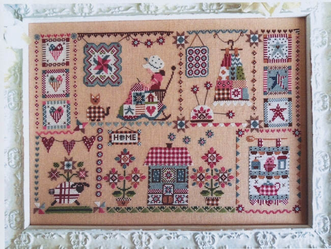 Cozy quilting in quilt cuore e batticuore counted cross stitch pattern New Quilt Cross Stitch Patterns Gallery