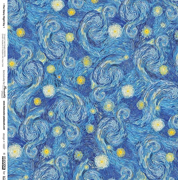 Permalink to Interesting Elegant Van Gogh Quilting Fabric Ideas Gallery