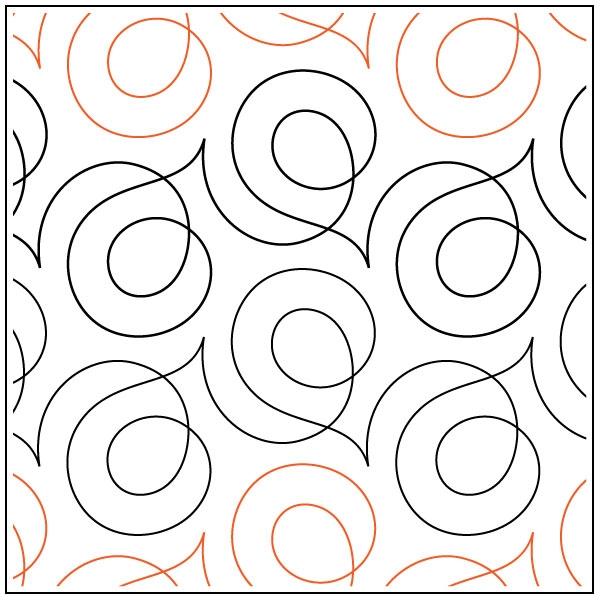 Cozy soho quilting pantograph pattern sarah ann myers 10 Interesting Pantograph Patterns For Quilting