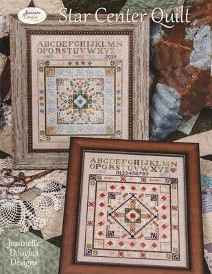 Cozy star center quilt cross stitch pattern New Quilt Cross Stitch Patterns Gallery