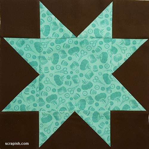 Cozy star quilt block pattern tutorial 12 inch 10   Easy Quilt Square Patterns