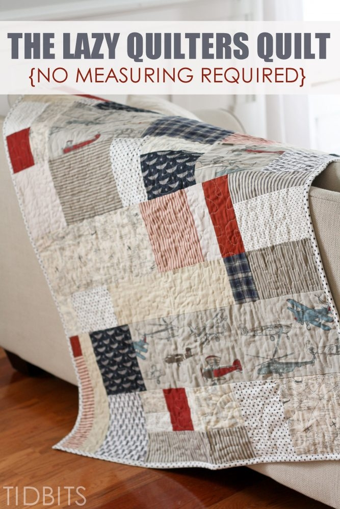 Cozy the lazy quilters quilt no measuring required tidbits 11 Cozy Beautiful Pre Quilted Baby Fabric Inspiration Gallery