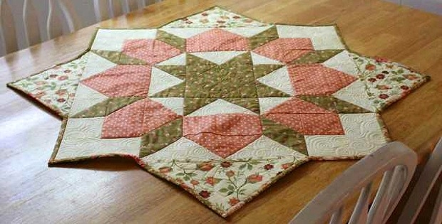 Cozy turn a swoon block into a table topper quilting digest 9 Beautiful Table Topper Quilt Patterns