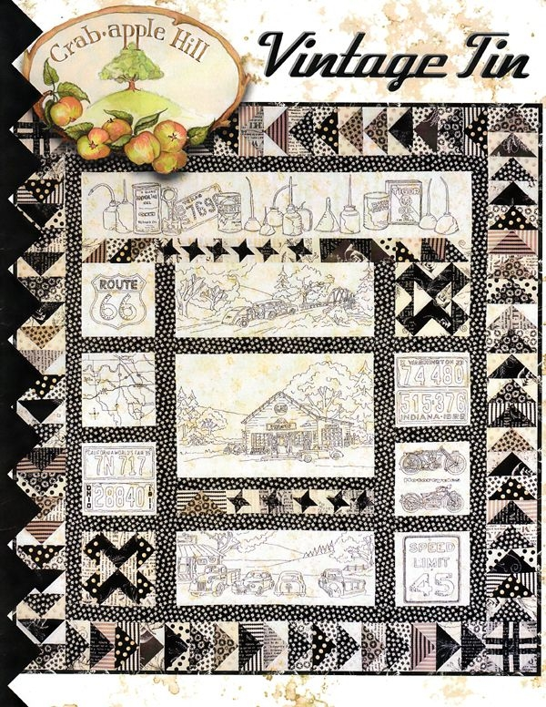 Cozy vintage tin pattern the quilted crow quilt shop folk art Cool Vintage Tin Quilt Kit
