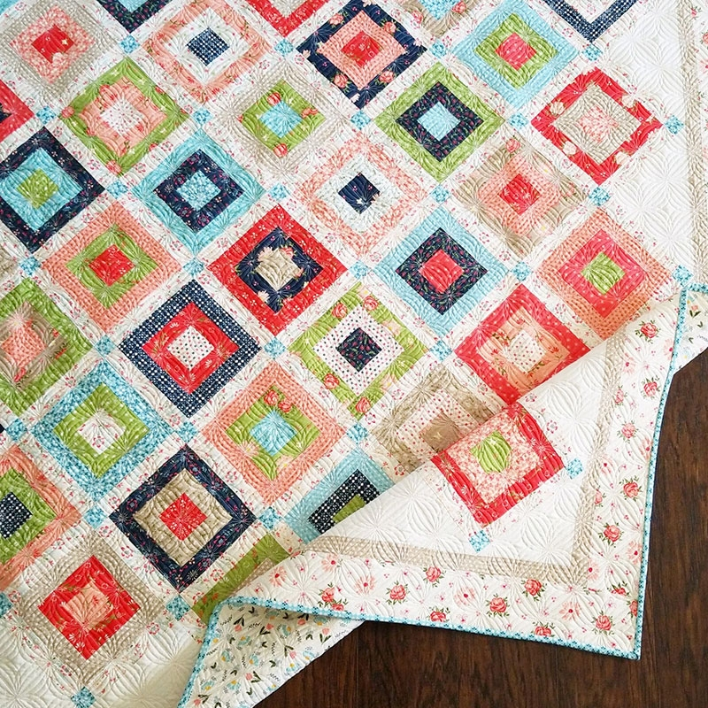 Cozy weekender honeybun charm quilt a quilting life 9 Elegant Honey Bun Quilt Patterns Inspirations