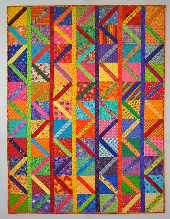 create easy zig zags in this colorful quilt quilting digest 10 Modern Colorful Quilt Patterns Inspirations