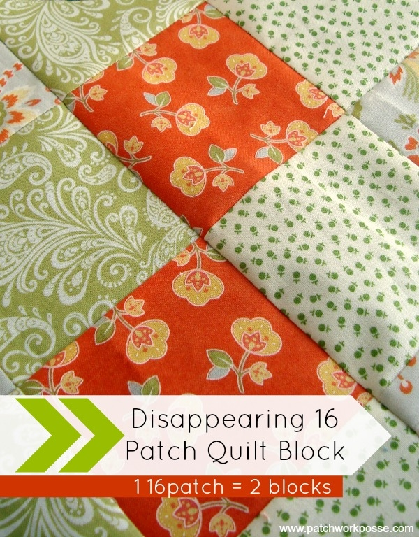 disappearing 16 patch quilt block tutorial 11 Cozy 16 Patch Quilt Block Patterns Inspirations