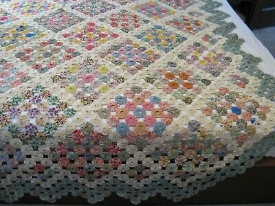 Elegant 28 attractive yo yo quilts impressive patterns the funky 11   Vintage Yoyo Quilt