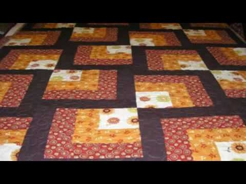 Elegant beginner quilt blocks easy log cabin quilt youtube 9   Easy Log Cabin Quilt Pattern