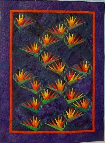 Elegant bird of paradise paper pieced pattern karen stone Modern Bird Of Paradise Quilt Pattern Inspirations