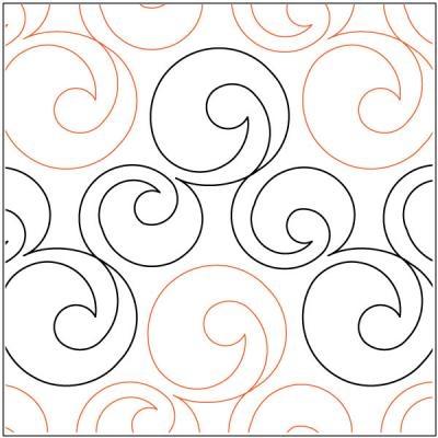 Elegant bubbles quilting pantograph pattern lorien quilting 10 Interesting Pantograph Patterns For Quilting