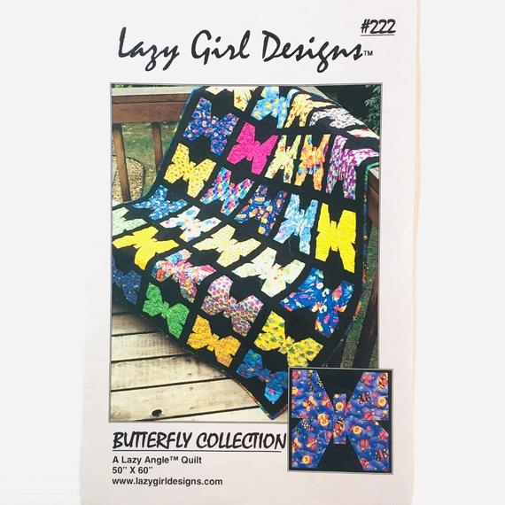 Elegant butterfly collection a lazy angle quilt butterfly quilt pattern lazy girl designs 222 9 Cozy Lazy Angle Quilt Patterns Gallery