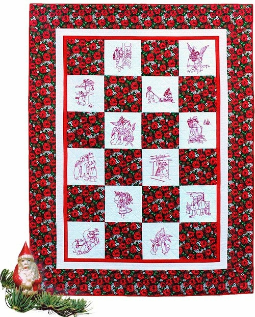 Elegant christmas pattern embroidery quilt patterns sewing quilts vintage quilting home decor cotton 9 Modern Embroidered Quilt Patterns Inspirations
