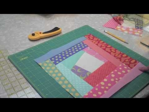 Elegant crazy log cabin finishing your block 14 of 22 learnhowtoquilt classes 11 New Crazy Log Cabin Quilt Pattern