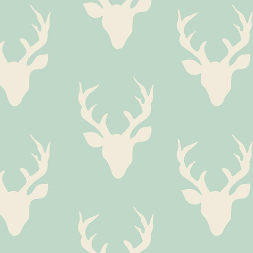 Elegant deer fabric in mint hello bear woodland quilting fabric with mint deer buck forest mint art gallery fabrics bonnie christine 11 Modern Deer Fabric For Quilting Inspirations