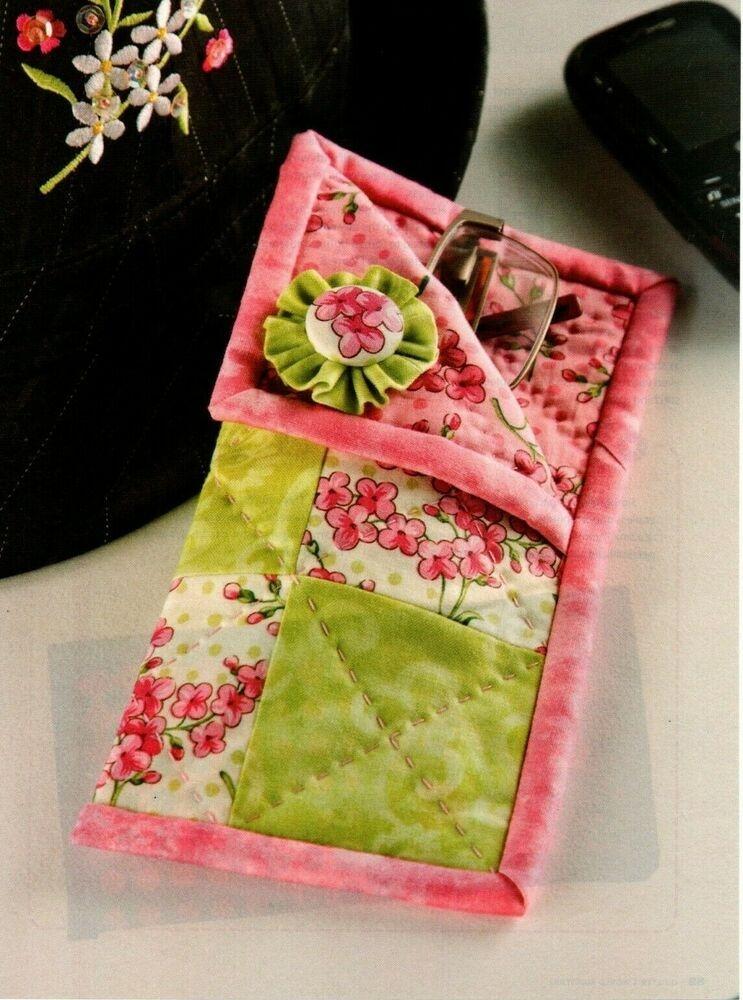 Elegant eyeglass case quilt pattern pieced cm with images Modern Quilted Eyeglass Case Pattern