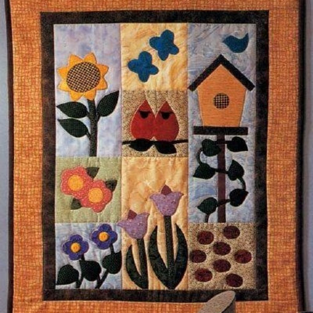 Elegant garden of delights quilted wall hanging pattern quilted 11 Cool Patterns For Quilted Wall Hangings Gallery